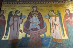 Εσωτερικό της σερβικής Ορθόδοξης Εκκλησίας στο Ζάγκρεμπ, Κροατία Στοκ Φωτογραφία