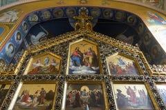 Εσωτερικό της σερβικής Ορθόδοξης Εκκλησίας στο Ζάγκρεμπ, Κροατία Στοκ φωτογραφία με δικαίωμα ελεύθερης χρήσης