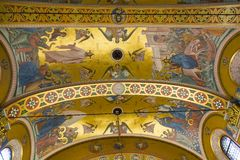 Εσωτερικό της σερβικής Ορθόδοξης Εκκλησίας στο Ζάγκρεμπ, Κροατία Στοκ Φωτογραφίες