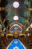 Εσωτερικό της Notre-Dame de Μόντρεαλ στοκ φωτογραφία