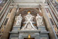 Εσωτερικό του Αγίου Peter Cathedral σε Βατικανό Στοκ φωτογραφία με δικαίωμα ελεύθερης χρήσης