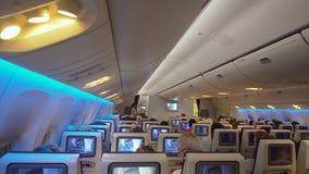 Εσωτερικό του αεροπλάνου επιβατών Στοκ φωτογραφία με δικαίωμα ελεύθερης χρήσης