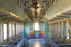 Εσωτερικό του αναδρομικού τραίνου στην Ταϊλάνδη Στοκ Φωτογραφίες