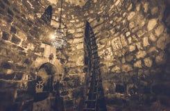 Εσωτερικό του αρχαίου μοναστηριού Khor Virap Στοκ Φωτογραφία