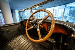 Εσωτερικό του αυτοκινήτου Rolls-$l*royce φανταστικό Ι ανοικτό Tourer, 1926 πολυτέλειας Στοκ Εικόνες