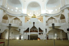Εσωτερικό του βασιλικού πόλης μουσουλμανικού τεμένους α Klang Κ ένα Masjid Bandar Diraja Klang στοκ εικόνες
