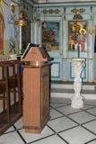 Εσωτερικό του ελληνικού ορθόδοξου Metropolite της Ναζαρέτ στο olInterior του ελληνικού ορθόδοξου Metropolite της Ναζαρέτ στον παλ Στοκ Εικόνες