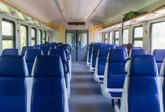 Εσωτερικό του ηλεκτρικού τραίνου στοκ φωτογραφία με δικαίωμα ελεύθερης χρήσης