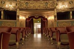 Εσωτερικό του θεάτρου Λα Fenice, καθίσματα Στοκ εικόνα με δικαίωμα ελεύθερης χρήσης