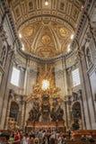 Εσωτερικό του θόλου Αγίου Peter Στοκ φωτογραφίες με δικαίωμα ελεύθερης χρήσης