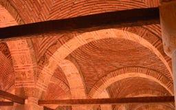 Εσωτερικό του θόλου τούβλου Στοκ Φωτογραφία