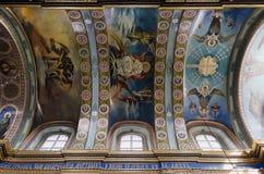 Εσωτερικό του ιερού καθεδρικού ναού Dormition σε Pochaev Lavra (Pocha Στοκ Εικόνες