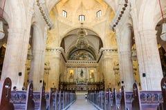 Εσωτερικό του καθεδρικού ναού της Αβάνας, Κούβα, Αβάνα Στοκ φωτογραφία με δικαίωμα ελεύθερης χρήσης