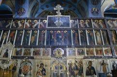 Εσωτερικό του καθεδρικού ναού τριάδας σε Pochaev Lavra - εικονίδια του θορίου Στοκ εικόνες με δικαίωμα ελεύθερης χρήσης