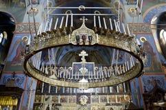 Εσωτερικό του καθεδρικού ναού τριάδας στο ΝΕ Pochaev Lavra (Pochayiv) Στοκ φωτογραφίες με δικαίωμα ελεύθερης χρήσης