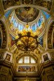 Εσωτερικό του καθεδρικού ναού του ST Isaac σε Άγιο Πετρούπολη, Ρωσία στοκ φωτογραφία με δικαίωμα ελεύθερης χρήσης