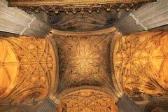 Εσωτερικό του καθεδρικού ναού στη Σεβίλη, Ισπανία Στοκ Φωτογραφία