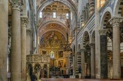 Εσωτερικό του καθεδρικού ναού της Πίζας, Ιταλία Στοκ Εικόνες