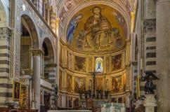 Εσωτερικό του καθεδρικού ναού της Πίζας, Ιταλία Στοκ φωτογραφίες με δικαίωμα ελεύθερης χρήσης