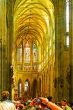 Εσωτερικό του καθεδρικού ναού του ST Vitus, Πράγα, Δημοκρατία της Τσεχίας Στοκ φωτογραφία με δικαίωμα ελεύθερης χρήσης
