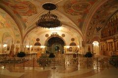 Εσωτερικό του καθεδρικού ναού Χριστού το Savior στη Μόσχα Στοκ Εικόνα
