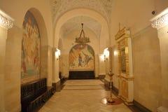 Εσωτερικό του καθεδρικού ναού Χριστού το Savior στη Μόσχα Στοκ εικόνες με δικαίωμα ελεύθερης χρήσης