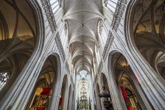 Εσωτερικό του καθεδρικού ναού d'Anvers κυρίας Notre, Anvers, Βέλγιο Στοκ Εικόνες