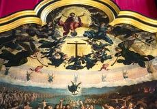 Εσωτερικό του καθεδρικού ναού d'Anvers κυρίας Notre, Anvers, Βέλγιο Στοκ εικόνες με δικαίωμα ελεύθερης χρήσης