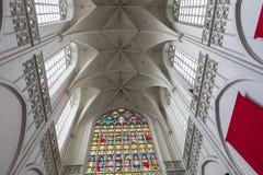 Εσωτερικό του καθεδρικού ναού d'Anvers κυρίας Notre, Anvers, Βέλγιο Στοκ εικόνα με δικαίωμα ελεύθερης χρήσης