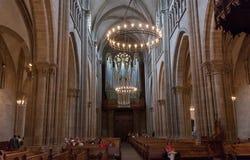 Εσωτερικό του καθεδρικού ναού Saint-Pierre στη Γενεύη Στοκ εικόνες με δικαίωμα ελεύθερης χρήσης