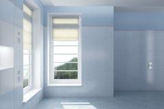 Εσωτερικό του κενού σύγχρονου σπιτιού Στοκ Φωτογραφία
