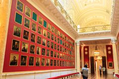 Εσωτερικό του κρατικού ερημητηρίου στην Αγία Πετρούπολη, Ρωσία Στοκ Φωτογραφίες