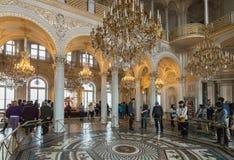 Εσωτερικό του κρατικού ερημητηρίου (χειμερινό παλάτι), η Αγία Πετρούπολη, Russ Στοκ εικόνα με δικαίωμα ελεύθερης χρήσης