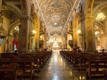Εσωτερικό του μητροπολιτικού καθεδρικού ναού του Σαντιάγο, Χιλή Στοκ φωτογραφίες με δικαίωμα ελεύθερης χρήσης