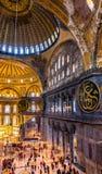 Εσωτερικό του μουσείου Hagia Sophia Στοκ Εικόνες