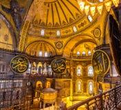 Εσωτερικό του μουσείου Hagia Sophia Στοκ Φωτογραφία