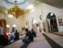Εσωτερικό του μουσουλμανικού τεμένους Darul IMAAN την Παρασκευή που προσεύχεται, σε Arncliffe, τη Νότια Νέα Ουαλία στοκ φωτογραφία