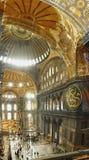 Εσωτερικό του μουσουλμανικού τεμένους Hagia Sofia Στοκ φωτογραφία με δικαίωμα ελεύθερης χρήσης