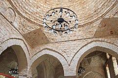 Εσωτερικό του μουσουλμανικού τεμένους Yivli Minare, Antalya, Τουρκία Στοκ Φωτογραφία