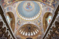 Εσωτερικό του ναυτικού καθεδρικού ναού Άγιου Βασίλη σε Kronstadt, Στοκ Εικόνες