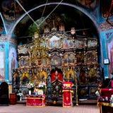 Εσωτερικό του ορθόδοξου μοναστηριού Zamfira, Ρουμανία Στοκ φωτογραφίες με δικαίωμα ελεύθερης χρήσης