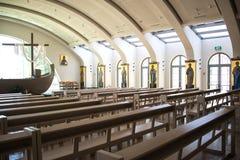 Εσωτερικό του παρεκκλησιού βαρκών, Magdala, Migdal, Israe λ Στοκ φωτογραφία με δικαίωμα ελεύθερης χρήσης