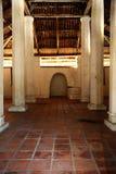 Εσωτερικό του παλαιού μουσουλμανικού τεμένους Pengkalan Kakap σε Merbok, Kedah Στοκ Φωτογραφίες
