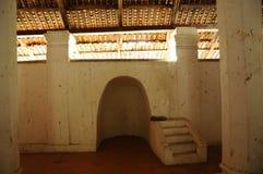 Εσωτερικό του παλαιού μουσουλμανικού τεμένους Pengkalan Kakap σε Merbok, Kedah Στοκ Φωτογραφία