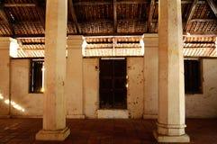 Εσωτερικό του παλαιού μουσουλμανικού τεμένους Pengkalan Kakap σε Merbok, Kedah Στοκ εικόνα με δικαίωμα ελεύθερης χρήσης
