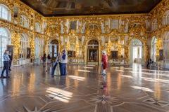 Εσωτερικό του παλατιού της Catherine σε Tsarskoye Selo (Pushkin), ΝΕ Στοκ Φωτογραφία