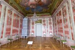 Εσωτερικό του παλατιού Rundale Το ροδαλό δωμάτιο Στοκ φωτογραφία με δικαίωμα ελεύθερης χρήσης