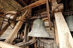 Εσωτερικό του πύργου εκκλησιών με τα παλαιά κουδούνια Στοκ Εικόνα