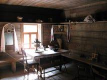 Εσωτερικό του ρωσικού σπιτιού Στοκ εικόνα με δικαίωμα ελεύθερης χρήσης