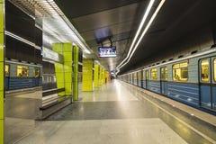 Εσωτερικό του σταθμού Zhulebino μετρό της Μόσχας, Στοκ εικόνες με δικαίωμα ελεύθερης χρήσης